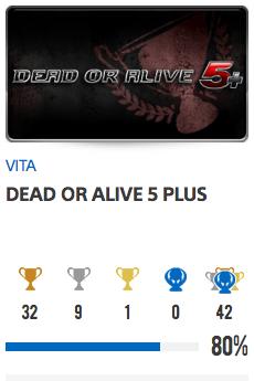 Progessison trophées Dead Or Alive 5+