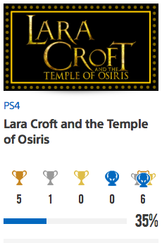 Progessison trophées Lara Croft and the Temple of Osiris