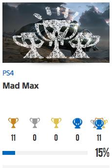 Progessison trophées Mad Max