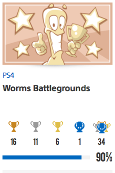 Progessison trophées Worms Battlegrounds