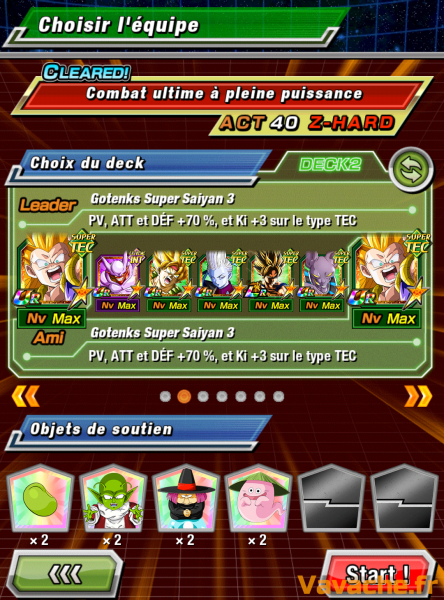 Dokkan Battle suggestion équipe Dokkan Freezer ultime
