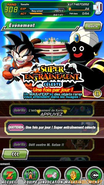 Guide Dokkan Battle Entrainement
