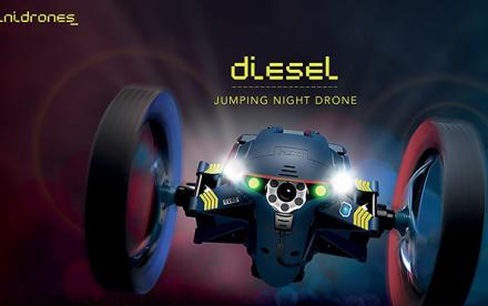 Minidrone Parrot Jumping Night