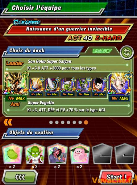 Dokkan Battle suggestion équipe Dokkan Super Gogeta