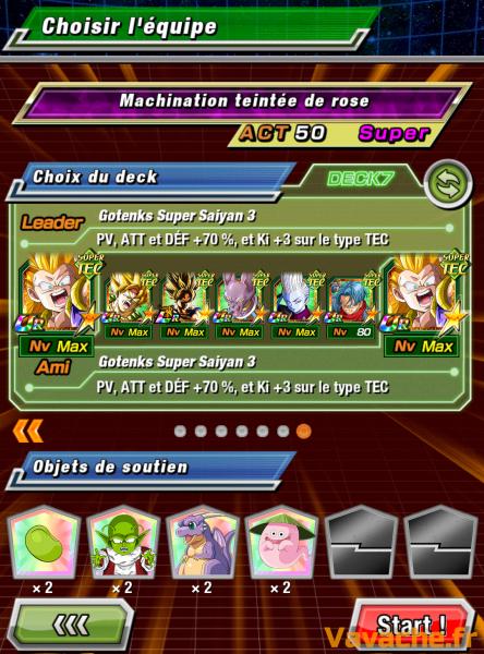 Dokkan Battle suggestion équipe Dokkan Goku Black rosé