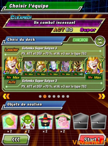 Dokkan Battle suggestion équipe Dokkan Goku SSGSS Kaioken