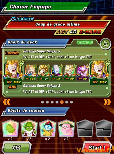 Dokkan Battle suggestion équipe Dokkan Goku SSJ3