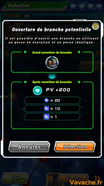 Dokkan Battle Potentiel Arbre de compétence et doublon