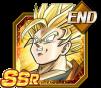 Dokkan Battle SSR Goku SSJ2 Ange END